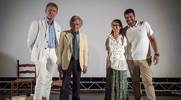 CFF 2021. Nella foto, da sinistra: Sergio D'Arrigo, Andrea Paternò Castello di Sangiuliano, Claudia Sciacca e Andrea Annino.