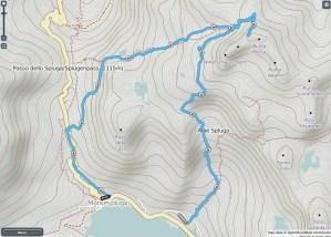 Mappa pizzo Suretta