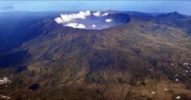 Il cratere del Monte Tambora