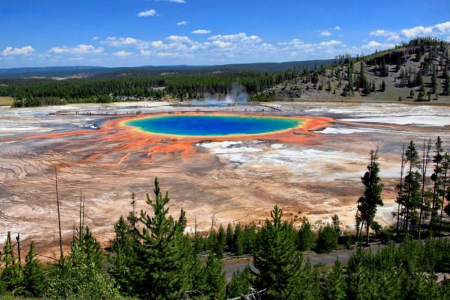 Una veduta di Yellowstone