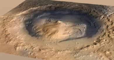Il cratere Gale col monte Sharp