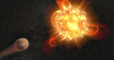 Una nana rossa influenza l'atmosfera di un pianeta