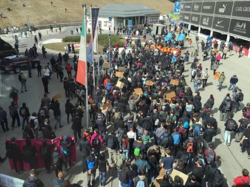 Brennero, manifestazione pro migranti 4