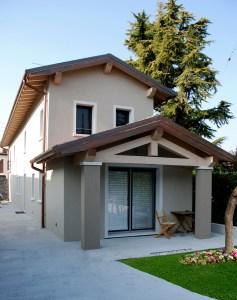 L'abitazione a Santa Lucia di Piave (TV).