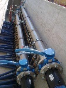 IL COLLETTORE del circuito primario sonde geotermiche impianto da 220 kW.