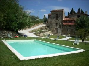 L'AGRITURISMO Il Cerretino situato sulle colline nei pressi di Firenze.
