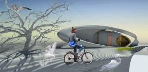 UN PONTE PER L'ACQUA. Le infrastrutture per il governo delle acque sono una costante nel paesaggio olandese. Il progetto opera una sintesi ecosostenibile fra diverse componenti del territorio: i canali, i sistemi di pompaggio, i ponti e le piste ciclabili.(foto Margot Krasojevic)