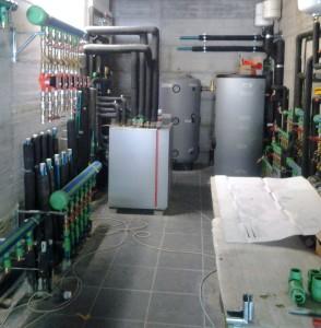 LA CENTRALE termica dell'impianto.
