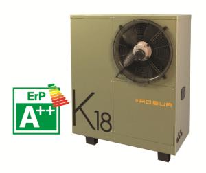 K18 pompa di calore ad assorbimento a gas ed energia rinnovabile aerotermica per riscaldare casa.