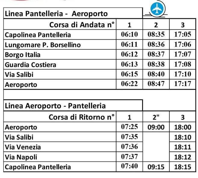 Linea Pantelleria - Aeroporto