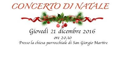 21 dicembre 2017 Concerto di Natale