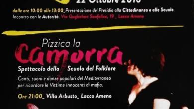 """Photo of Giornata per la legalità, sabato prossimo a Lacco Ameno si """"pizzica"""" la camorra"""