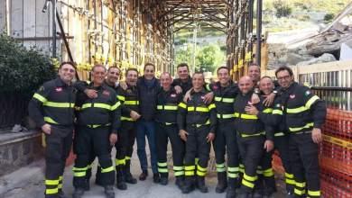 Photo of Puntellata Cava Scialicco, il sindaco Pascale ringrazia i Vigili del Fuoco