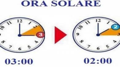 Photo of Nella notte tra sabato e domenica torna l'ora solare