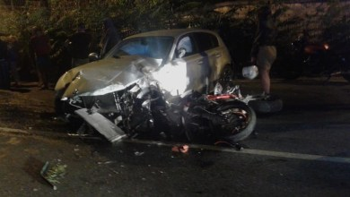 Photo of Pauroso incidente nella notte, auto contro moto alla Fasolara