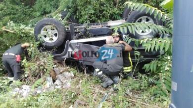 Photo of LA GRANDE PAURA Auto si ribalta sulla Superstrada, illeso il conducente