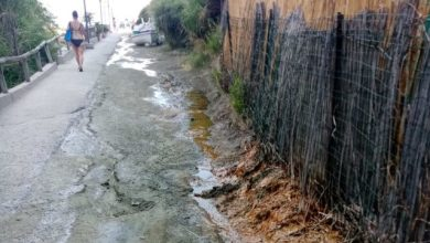 Photo of Olmitello, un fiume di acqua nera in strada: che saluto all'estate