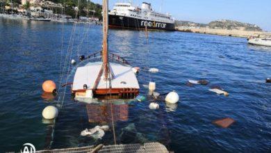 Photo of LA FOTONOTIZIA Barca a vela affonda nel porto turistico di Casamicciola