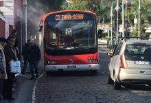 Photo of LA FOTONOTIZIA Fumo e fiamme, ancora un bus Eav in panne