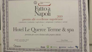 """Photo of Premio """"fatto a Napoli"""" all'Hotel Le Querce"""