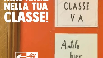 "Photo of Cartello ""Antifa Hier"" vietato in una classe del Liceo: «Qui non si fa politica»"