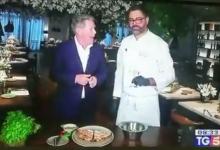 Photo of Ivano Veccia in tv con una pizza dai sapori della nostra tradizione