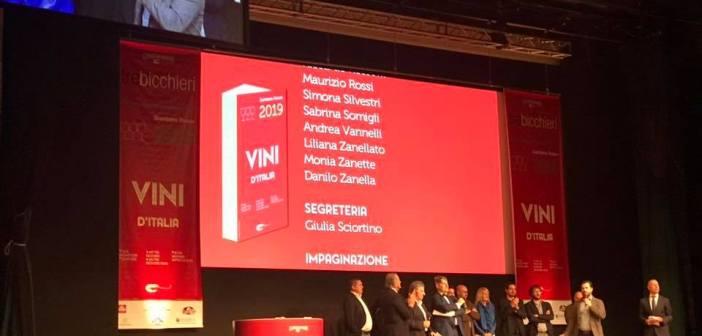 I tre Bicchieri per la guida Vini d'Italia 2019 del Gambero Rosso, dalla premiazione alla degustazione