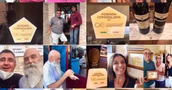 4 aziende di Montalcino a cui ho dato il mio adesivo per azienda consigliata da il Gourmet Errante