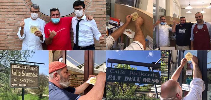 Siamo in Abruzzo in quattro locali a cui ho dato il mio adesivo di locale consigliato da il Gourmet Errante. Ristorante La Bandiera a Civitella Casanova, Ristorante La Vecchia Marina a Roseto degli Abruzzi, Bio Agriturismo Valle Scannese e Pasticceria Pan dell'Orso, entrambi a Scanno