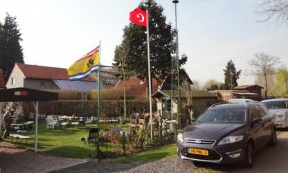 Turkeye Koyun'de Turk bayragi dalgalaniyor