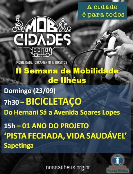 II Semana de Mobilidade promove bicicletaço e pista fechada em Ilhéus neste domingo (23) 1