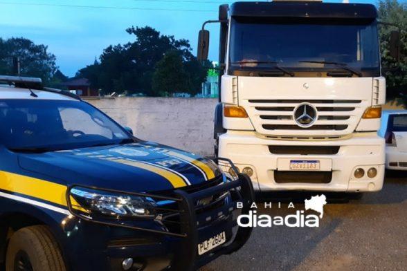 caminhão roubado na BR-101 em Itabela