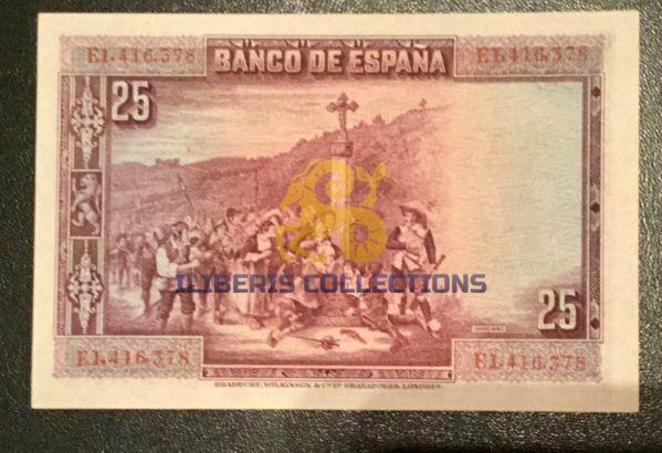 Spain 25 Pesetas 1928-1