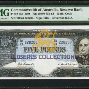 Australia 5 Pounds 1961
