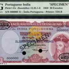 Portuguese India 30 escudos