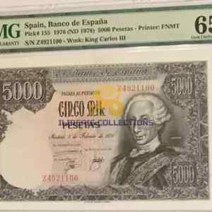 Buy Spain 5000 Pesetas 1976