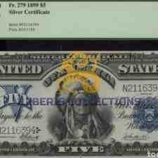 United States 5 Dollars 1899.