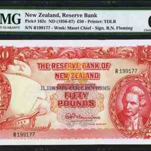New Zealand 50 Pounds Banknote