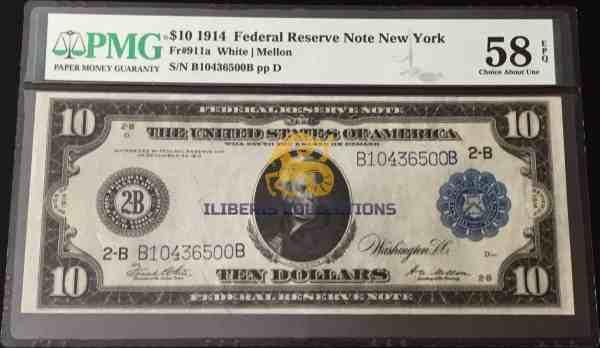 USA 10 Dollars 1914