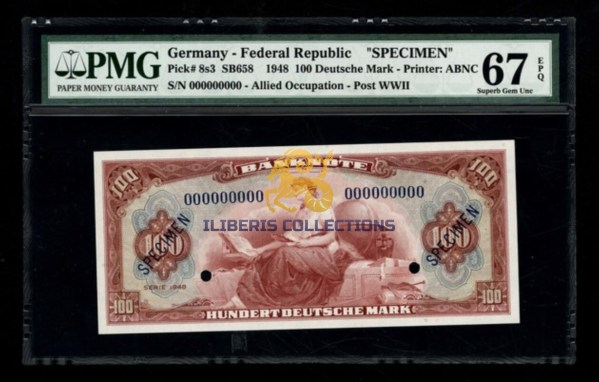 Germany 100 Deutsche Mark 1948 Specimen