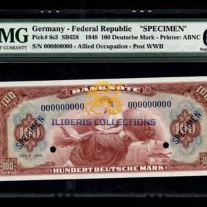 Germany 100 Deutsche Mark 1948 Specimen