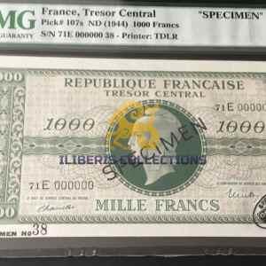 France 1000 Francs Marianne Specimen