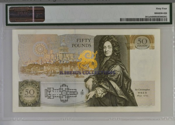 Great Britain 50 Pounds 1988.back
