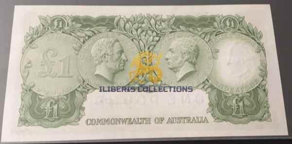 Australia 1 Pound 1961 back