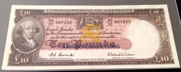Australia 10 Pounds 1954. Uncirculated