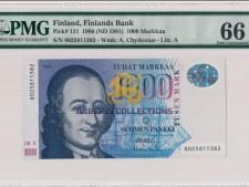 Finland 1000 Markkaa 1986.