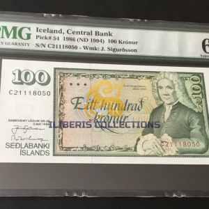 Iceland 100 Kronur 1986. PMG 66 EPQ