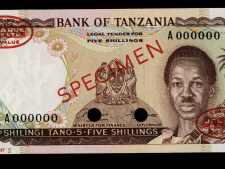 Buy Tanzania 5 Shillingi 1966 Specimen. Uncirculated