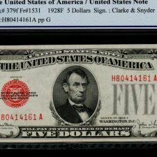 United States 5 dollars 1928C. Fr. 1528. PCGS 65 OPQ.