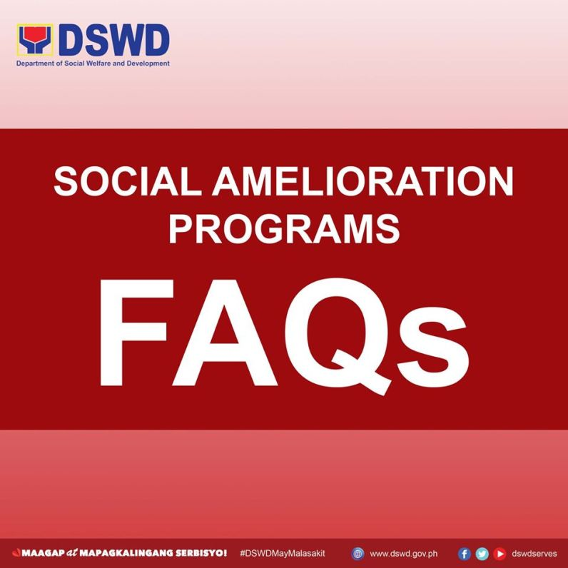 Social Amelioration Program FAQs